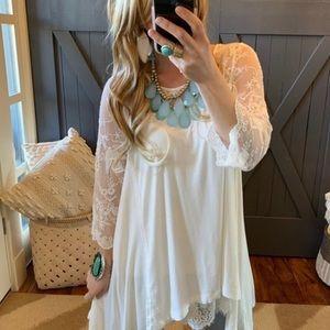 Bohemian Lace Layering Tunic Sz L
